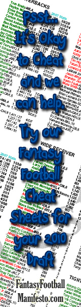 Psst ... It's OK to Cheat and We Can Help - FantasyFootballManifesto.com